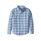Janie and Jack Linen Roll Sleeve Button Up Shirt (Toddler/Little Kids/Big Kids)