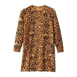 Mini rodini Basic Leopard Long Sleeve Dress (Infant/Toddler/Little Kids/Big Kids)