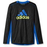 Adidas adidas Boys Performance Logo Long Sleeve Tee Shirt