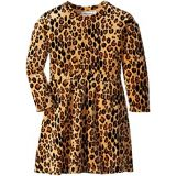 Mini rodini Leopard Velour Dress (Infant/Toddler/Little Kids/Big Kids)