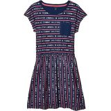Logo Stripe Tee Dress (Big Kids)