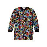 Stella McCartney Kids Letters and Smiles Sweatshirt Dress (Toddler/Little Kids/Big Kids)