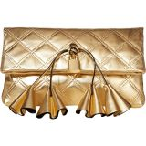 Sofia Loves The Metallic Leather Clutch