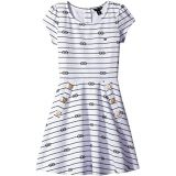 Tommy Hilfiger Kids Short Sleeve Printed Pique Dress (Big Kids)