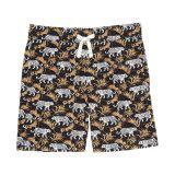 Janie and Jack Tiger Print Poplin Pull-On Shorts (Toddler/Little Kids/Big Kids)