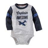 OshKosh+B%27Gosh OshKosh Bgosh Baby Boys Flocked Double-Decker Bodysuit, 0-3 Month