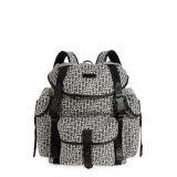 KENZO Logo Jacquard Backpack_MISTY GREY