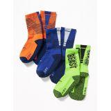 Go-Dry Crew Socks 3-Pack for Boys