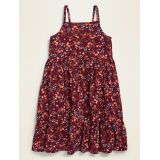 Printed Square-Neck Tiered Cami Dress for Toddler Girls