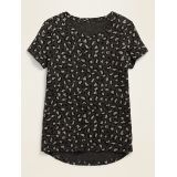 Softest Scoop-Neck Printed Tee for Girls