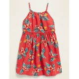 Printed High-Neck Fit & Flare Dress for Toddler Girls