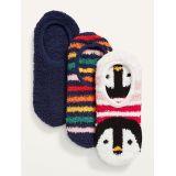 Oldnavy Cozy Gripper Sneaker Socks 3-Pack For Women