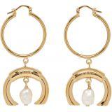 Gold Pearl Darcey Earrings