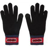 Black Logo Tag Gloves