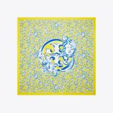 Yellow Swirl Oversized Silk Square Scarf