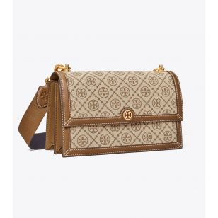 Tory Burch T Monogram Jacquard Shoulder Bag