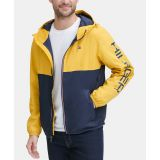 Tommy Hilfiger Mens Colorblocked Logo Rain Slicker