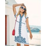 Bea Linen Embroidered Dress