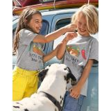 Boden Graphic T-shirt - Grey Marl Lets Taco Bout It