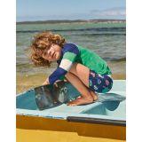Boden Swim Trunks - Starboard Blue Fish Friends