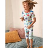 Boden Cosy Twin Pack Short Pajamas - Ivory Beach Animals