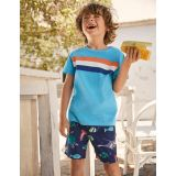 Boden Fun Vacation Shorts - College Blue Under-the-sea