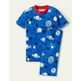 Boden Glow-in-the-dark Short Johns - Bold Blue Glow Planets