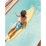 Boden Printed Surf Shorts - Aqua Blue Geo Lolly