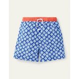 Boden Swim Trunks - Electric Blue Coral