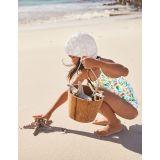 Boden Halterneck Swimsuit - Ivory Mermaid Garden