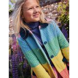 Boden Colourful Wool Coat - Multi Rainbow