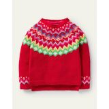 Boden Cosy Fair Isle Sweater - Rockabilly Red