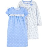2-Pack Heart Nightgowns