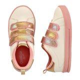 White Triple Strap Sneakers