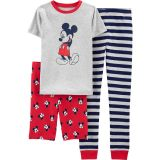 Mickey Mouse 3-Piece Cotton PJs