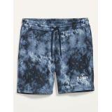 Oldnavy Vintage Tie-Dye Gender-Neutral Logo Jogger Shorts for Adults -- 7.5-inch inseam