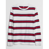 Kids Long Sleeve Stripe Pocket T-Shirt