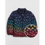 Toddler Heart Print Puffer Jacket