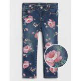 Toddler Floral Print Skinny Jeans with Fantastiflex