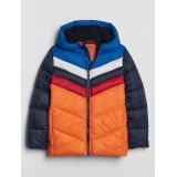 Kids Colorblock Hooded Puffer Jacket
