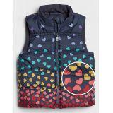 Toddler Heart Print Puffer Vest