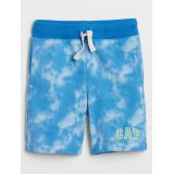 Gapfactory Kids Tie-Dye Gap Logo Shorts in French Terry