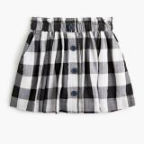 Girls' button-front skirt in buffalo check