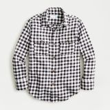Boys' flannel shirt in checks with elbow patches