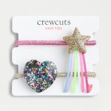 Girls' heart and star hair tie two-pack