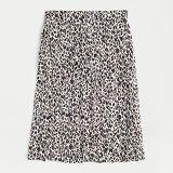 Pleated midi skirt in leopard