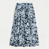 Pleated A-line midi skirt in shaded floral