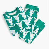 Kids' pajama set in tree print