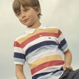Lacoste Boys Colored Stripes Pique Polo