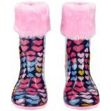 Fleece-Lined Rain Boots